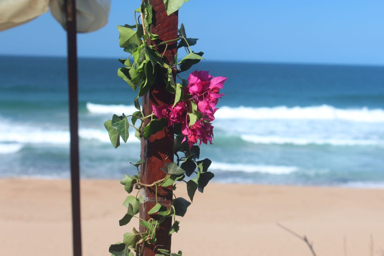 VI BEACH WEDDING BOUGAINVILLA PAGODA OCEAN BACKDROP